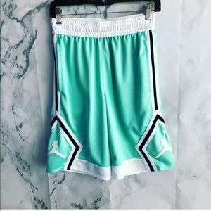 Jordan/ Dri Fit/ Teal Basketball Shorts C32